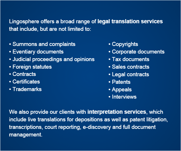 New York City legal translation company